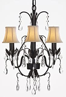 The Gallery COUNTRY FRENCH WROUGHT IRON TOLE CHANDELIER LIGHTING WITH SHADES [Kitchen] at Sears.com